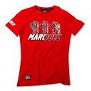 ☆【Marc】Marquez 93レディースレッドTシャツ