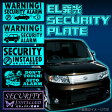 EL発光 セキュリティプレート ダミーセキュリティ ステッカー 選べるデザインは5種類