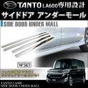 タント LA600S タントカスタム LA600S パーツ メッキ サイドドア アンダーモール 4P TanTo