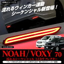 ヴォクシー70 ノア 70系 ヴォクシー70系 70 後期 ドレスアップ アクセサリー 前期 流れるウィンカー シーケンシャル テールランプ パーツ トヨタ LED リフレクター ファイバー テール ブレーキ ブレーキランプ 外装 カスタム