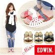 サンダル フットベット レディース 靴 Miss. EDWIN EW9448 ミスエドウィン