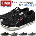 スニーカー エドウィン メンズ 靴 EDWIN 黒 ブラック 紺 ネイビー グレー 軽量 軽い 疲れない おしゃれ ED-7533 EDW-7531
