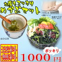 めかぶセット(めかぶ茶・メカブ・寒天入海藻サラダ) 腸活 水溶性食物繊維 海藻 無添加 送料無料 送料込み 1000円 ぽっきり