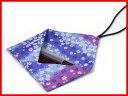 携帯用つなぎ箸用箸キャップ付き布袋【紫地に桜】