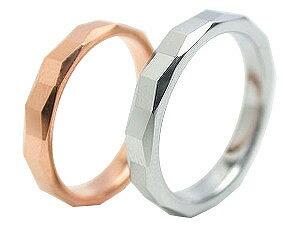 ペアリング ステンレスペアリング サージカルステンレスアクセサリー レーザー刻印 名入れ ギフト ステン316L タングステン 誕生日 記念日 シルバーカラー ピンク ローズゴールド メンズ レディース ダイヤモンドカット