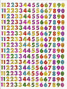 【メール便発送OK!】当店で大人気!!メタリックシール☆-数字1-【シール】【おもちゃ】【激安】【プレゼント】