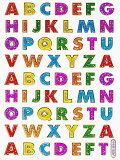 【メール便発送OK!】当店で大人気!!メタリックシール☆-アルファベット・3-【シール】【おもちゃ】【激安】【プレゼント】