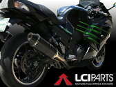 ZX-14R ZZR1400 ZX14R 2012-2016 LCIカーボンエンドスリップオンサイレンサー