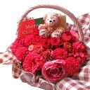 ショッピングダッフィー ダッフィー 花束風 プリザーブドフラワー 赤バラ入りギフト 枯れないフラワーギフト