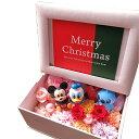 クリスマスプレゼント ディズニー 写真立て フォトフレーム 花 プレゼント プリザーブドフラワー入り...