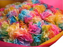 母の日 プレゼント レインボーカーネーション 100本花束  母の日期間限定ギフト