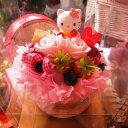 ホワイトデー お返し 花 キティ マスコット フラワーケーキ フラワーギフト ケース付き ◆誕生日プレゼント・記念日の贈り物におすすめのフラ...