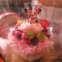 Disney - 誕生日プレゼント ディズニー フラワーギフト フラワーケーキ プリザーブドフラワー入り ケース付き バースデーA ◆誕生日プレゼント・記念日の贈り物におすすめのフラワーギフト