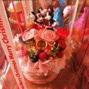 お祝い フラワーケーキ ディズニー フラワーギフト フラワーケーキ プリザーブドフラワー入り ケース付き ノーマル ミッキー ミニー◆誕生日プレゼント・記念日の贈り物におすすめのフラワーギフト