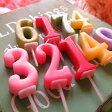 数字 キャンドル プリザーブドフラワーに可愛くアレンジ ◆お好きな数字 キャンドル 1個