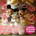 結婚祝い ディズニー ミッキー ミニー ウェディングプランター レインボーローズ入り プリザーブドフラワー ケース付き