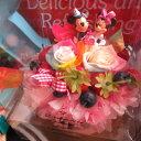 誕生日プレゼント 友達 彼女 ディズニー 花 レインボーローズ フラワーケーキ プリザーブドフラワー入り ケース付き バースデーA ◆誕生日プレゼント 記念日の贈り物におすすめのフラワーギフト