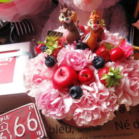 母の日 ディズニー フラワーギフト フラワーケーキ チップ&デール入り フラワーアレンジメント 母の日プレゼント・記念日の贈り物におすすめのフラワーギフト