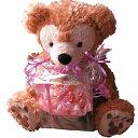 ショッピングダッフィー 母の日 ダッフィー ぬいぐるみ 花束風 大きなダッフィーがお花を抱えた サプライズ ダッフィー&シェリーメイ レインボーローズ プリザーブドフラワー入り