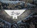 花の彩 シフォン系長袖ブラウス ミモレスカート セットアップ ブルー系ペイズリー総柄 M 古着 レディース FF-1 ★併20201217