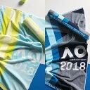 SHERIDAN(シェリダン)AUS ジムタオル 2018年 ブルー イエロー(約)59×90cm テニス 全豪オープン 大会タオル 公式タオル タオル スポーツタオル ジム トレーニング オーストラリア