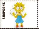 シンプソンズ キャラグッズ■キーホルダー■リサ 青■フィギュア/おもちゃ/キーリング/キャラクター雑貨/輸入雑貨/US