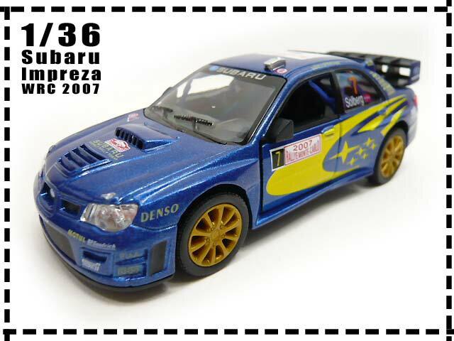 スバルSUBARU■1/36 インプレッサ WRC 2007■ブルー■プルバック/おもちゃ…...:auc-lovelybeetle:10006830