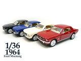 1/36■1964 フォード マスタング■赤白青黒■1台■ミニカー/おもちゃ/男の子/車/インテリア/外車/Ford Mustang/ダイキャストメタル/プルバック