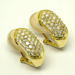 【あす楽商品】K18 ゴールド パヴェダイヤ イヤリング ダイヤモンド 1.00ct K18イエローゴールド プレゼント【送料無料】