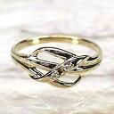楽天luireリボン ダイヤモンドリング K18 ゴールド 天然ダイヤモンド 誕生日 プレゼント 彼女自分ご褒美 結婚指輪