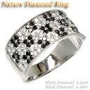 花 ブラックダイヤリング0.98ct天然ダイヤモンド 誕生日 指輪 ギフト K18WG0824楽天カード分割05P01Oct16