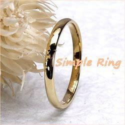 18K K18ゴールド 【送料無料】 地金リング K18YG  ストレート結婚指輪 誕生日 シンプル 自分ご褒美K18イエローゴールド 彼女 指輪0824カード分割05P01Oct16 華奢なストレートリング.k18ゴールド.シンプルなミディリング