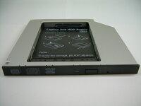 ノートパソコン光学ドライブベイ用HDD・SSDマウンタSATA接続9.5mm厚