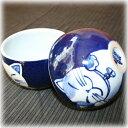 こだわりの手描き窯「藍窯」オリジナル猫の手商会グッズゴロんと転がるカワイイ招き猫・スイングボール