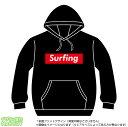 サーフィンパーカー(surfing)ストリート系BOXロゴデザインのプルオーバースウェット