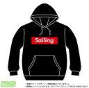 ショッピングsailing セーリングパーカー(sailing)ストリート系BOXロゴデザインのプルオーバースウェット