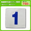 【刺繍調タイプ】ふち縫い背番号ゼッケン(W25cm×H25cm)