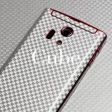 [キューブ柄-2面セット] 携帯電話専用デコ電 着せ替えシート「decotto」【Galaxy MEDIAS Xperia ARROWS HTC】や ケータイ スマートフォン 400機種以上に対応!(