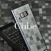 [キューブ柄-フルセット] 携帯電話専用デコ電 着せ替えシート[decotto] ガラケー&スマートフォン合計400機種以上に対応!液晶保護フィルム付(傷指紋から守る スキンシール) |39| |3c| |dh| \e 10P18Jun16