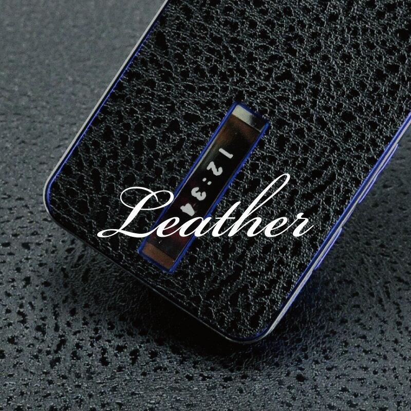 [レザー柄-フルセット] 携帯電話専用デコ電 着せ替えシート「decotto」 ガラケー&…...:auc-machhurrier:10000076