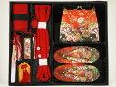 七五三3歳女の子用高級箱セコ7点セット(草履18cm)d04m