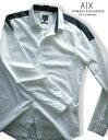 8506-8新品★アルマーニエクスチェンジ ARMANI EXCHANGE★デザインドレスシャツ3017★白★MENS★