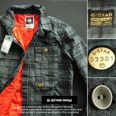 4840新品★ジースター G-STAR RAW★シャツ型チェックジャケット2206★グレー系★L★MENS★