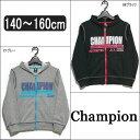 チャンピオン ジップパーカー CX9842 21グレー 08ブラック 140cm 150cm 160cm Champion 子供服 男の子 ジュニア/倉1 ztc