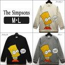 長袖 裏起毛 トレーナー レディース 96699AP The Simpsons 裏起毛 トレーナー アイボリー ブラック グレー M 9号 L 11号 レディー...