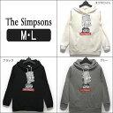 ★【あす楽対応】 長袖 裏起毛 パーカー レディース 96702AP The Simpsons 裏起毛 パーカー オフホワイト ブラック グレー M 9号 L ...