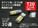 T20 LED ダブル ホワイト 30連 コーナーリングランプ