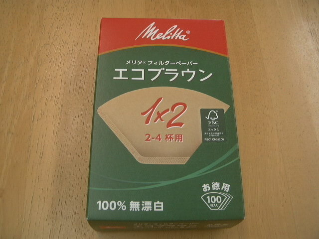 Melita eco filter paper 1 × 2 (for 2-4 cups)