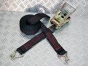 ブラックベルト荷締め機 WJフック3ton 幅50mm×長さ0.5+5m ブラックラッシングベルト 黒ラッシングベルト 黒荷締めベルト 黒タイタウンベルト