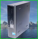 省スペース 中古パソコン DELL OptiPlex780 USFF Core2Duo E7500HDD:160GB DVD搭載 Windows7-Pro セットアップ済み【WPS Officeイン..